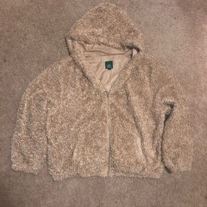 Women's Furry Taupe Jacket